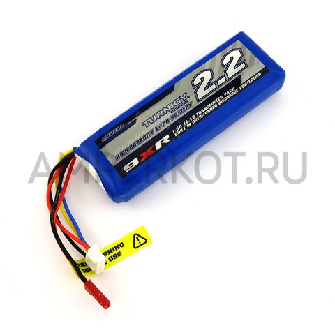Аккумулятор Lipo Turnigy 9XR Safety Protected 11.1v (3s) 2200mAh 1.5C Transmitter Pack, фото 1
