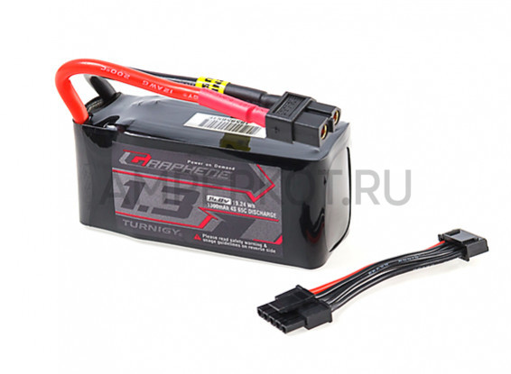 Аккумулятор TURNIGY GRAPHENE 1300MAH 4S 65C LIPO PACK W/XT60 (REMOVABLE BALANCE PLUG), фото 1