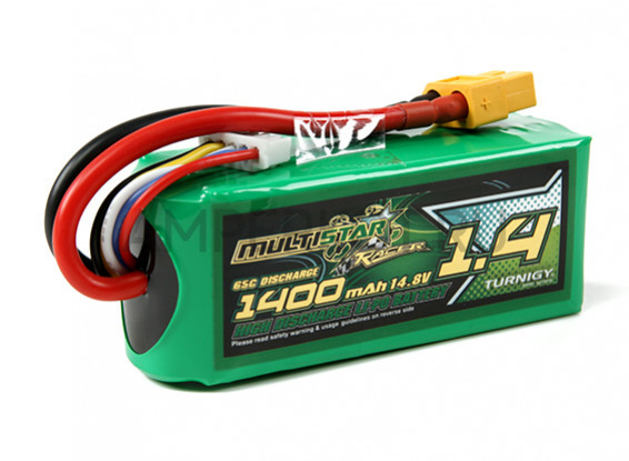 Multistar Racing Series 1400mAh 4S 65C Multi-Rotor Lipo Pack (Gold Spec), фото 1