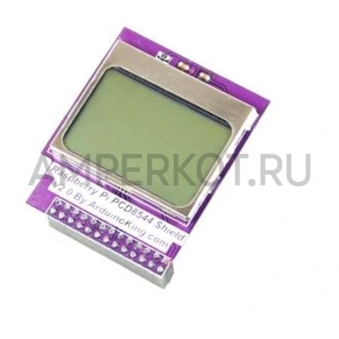Mini-LCD дисплей Raspberry Pi PCD8544 Shield 2.0, фото 1