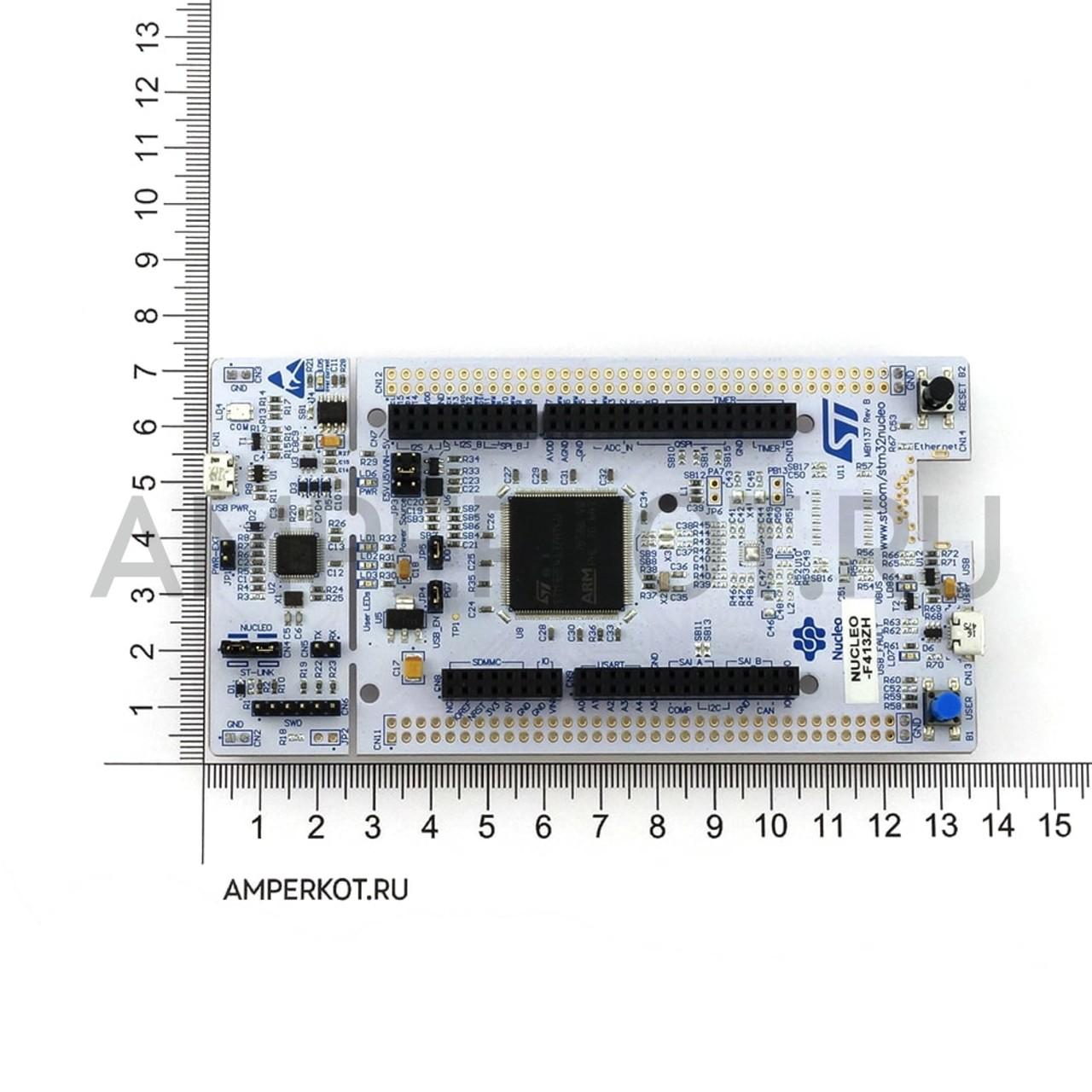 NUCLEO-F413ZH, Отладочная плата, Nucleo-144, STM32, ST-LINK/V2-1, ST  Zio/Morpho