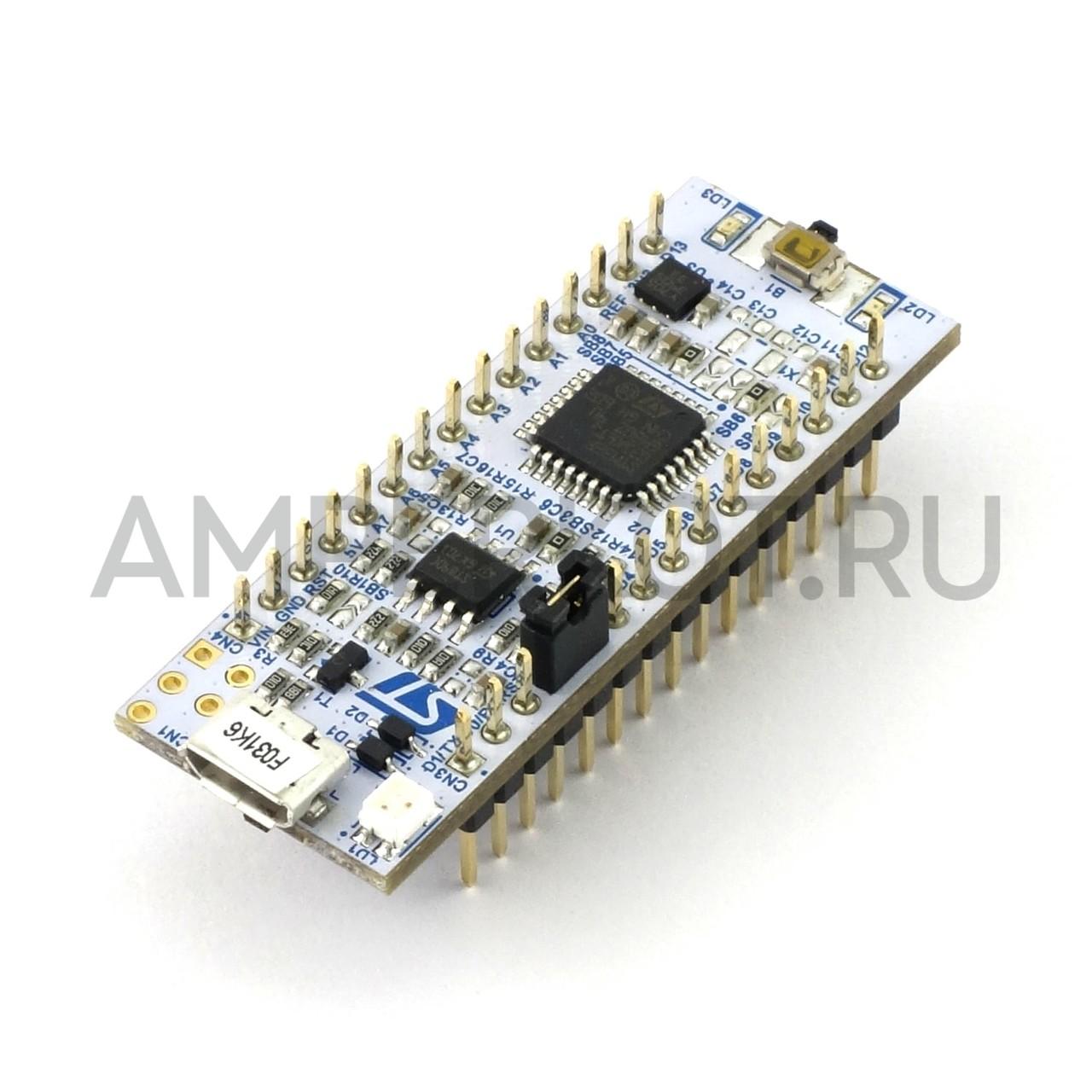 NUCLEO-F031K6, Отладочная плата MCU STM32F031K6T6 (ARM Cortex-M0),  ST-LINK/V2-1